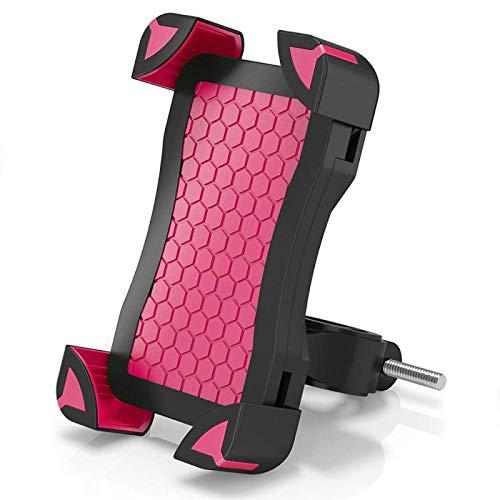 Soporte para Teléfono Soporte para Teléfono para Bicicleta Manillar De Motocicleta Soporte para Teléfono Celular Cochecito Soporte para Teléfono para Bicicleta Soporte para Samsung iPhone Rojo