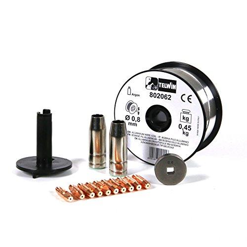 Telwin 802036 Kit Saldatura Alluminio D. 0.8 mm per Mig-Mag