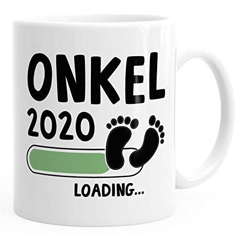 Kaffee-Tasse Onkel 2020 loading Geschenk-Tasse für werdenden Onkel Schwangerschaft Geburt Baby MoonWorks® weiß unisize