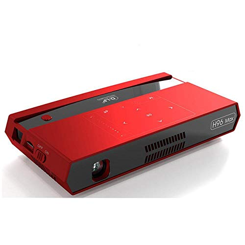 H96 max Mini HD 4K Projector android 6.0 dual 2.4G 5G wifi smart home cinema proyector video game Blutooth4.1 beamer 124LCD Projectors , H96 Max Red