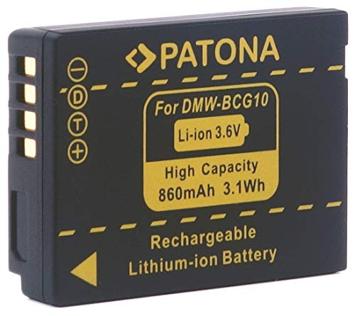 PATONA Ersatz für Akku Panasonic DMW BCG10E BCG10 E passend zu Panasonic Lumix DMC 3D1 TZ36 TZ31 TZ25 TZ22 TZ18 TZ10 TZ8 TZ7 TZ6 ZX3 ZX1 Leica V-Lux 20, V-Lux 30, V-Lux 40