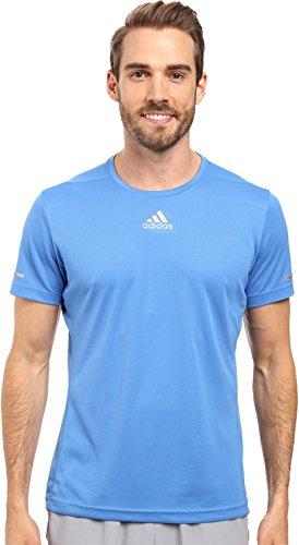 adidas Sequencials Climalite Mens Short Sleeve Running Tee 2XL Ray Blue