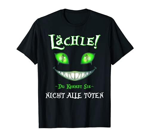 Herren Damen Lächle du Kannst Sie Nicht alle töten lächelnde T-Shirt