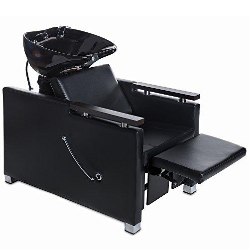 Sillón para lavar peluquería silla de barbero hidráulico estilo salón belleza hotel spa 255133+