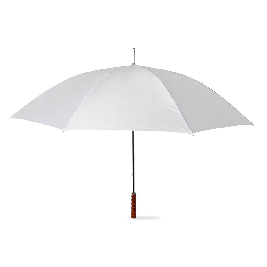 メールを書くブランド名悲鳴eBuyGBラージサイズウェディング/ゴルフブロリー、手動オープニングスティック傘、130 cm、ホワイト