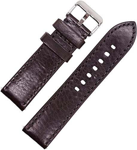 Chtom Correa de reloj de silicona impermeable de calidad, correa de reloj de goma suave, colores surtidos, 16 mm, 18 mm, 20 mm, 22 mm, 24 mm (color: blanco, tamaño: 24 mm)