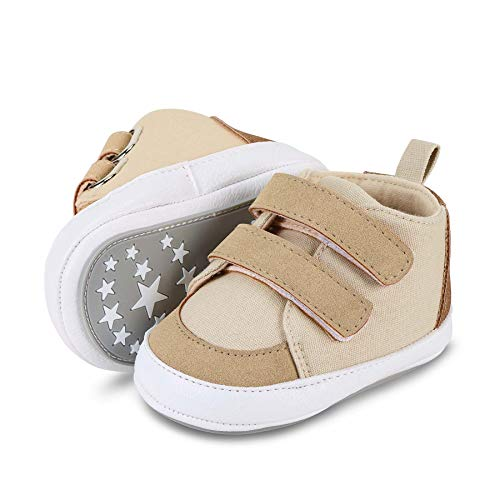 Sterntaler Unisex-Baby-Schuhe, Klettverschluss, Rutschfeste Sohle, Farbe: Beige, Größe: 19/20, Art.Nr.: 2302112.0