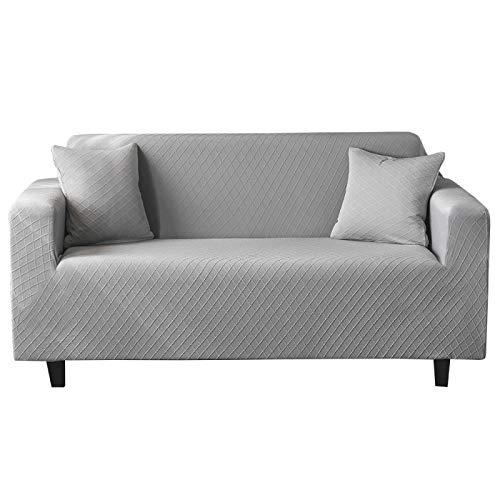 NOBCE Funda de sofá elástica Fundas elásticas con Todo Incluido Funda de sofá para Diferentes Formas Funda de sofá Funda de protección contra el Polvo Gris Claro 235-300CM