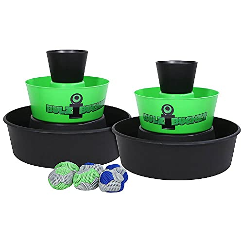 BULZiBUCKET Beach, Tailgate, Camping, Yard Game Indoor/Outdoor by Water Sports, Green/Black