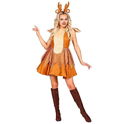 WIDMANN-Renna Costume Donna, Multicolore, (M), 4932