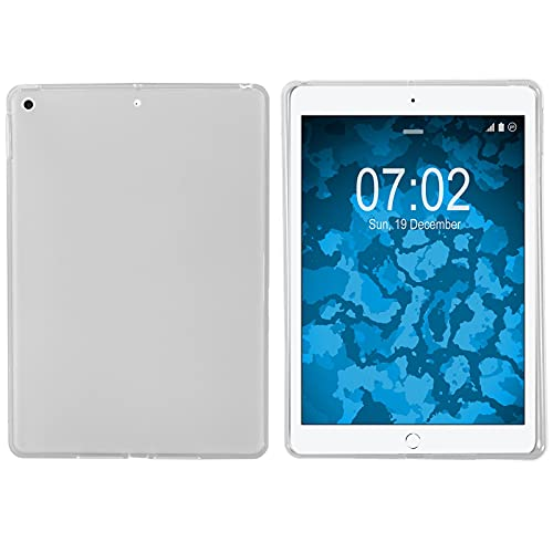 Preisvergleich Produktbild PhoneNatic Case kompatibel mit Apple iPad 10.2 (7.-8. Gen.) - Crystal Clear Silikon Hülle transparent Cover