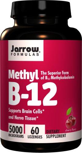 Jarrow Formulas, Methyl B12 Lozenges 5000Mcg, 60 Tablets