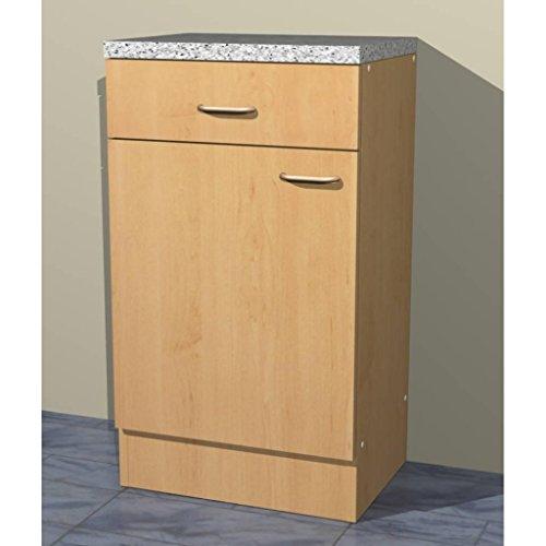 Küchenschrank Mehrzweckschrank in verschiedenen Breiten Start Melamin Buche/Buche (50cm breit)