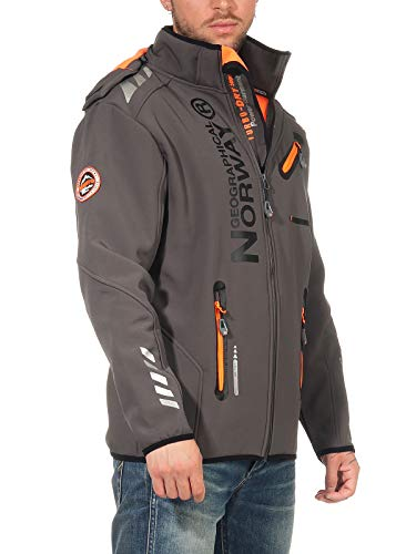 Geographical Norway Herren Softshell Jacke G-River - Grey/ORANGE - 3XL
