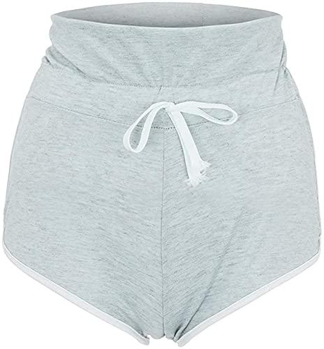 Pantalones cortos de delfín para mujer, para entrenamiento, gimnasio, deportes, yoga, deporte, fitness, pantalones cortos