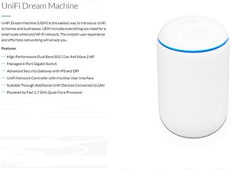 UBNT Networks Ubiquiti Dream Machine All in one with Integrated Security Gateway, Gigabit Switch, Cloud Key and Enterprise AP. Bundle