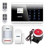KERUI - GSM Sistema de alarmas, GSM Sistema de alarmas, Alarma GSM sistema de seguridad con sensores de contacto de la puerta y alarma de movimiento para los negocios garaje de su casa (KIT A)