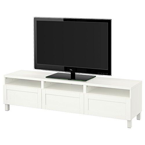 ZigZag Trading Ltd IKEA BESTA TV-Bank mit Schubladen, Hanviken, Weiß