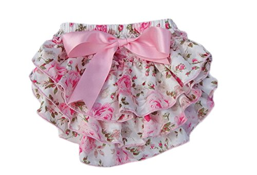 DELEY Bébés Filles Pettiskirt Ruffle Culottes Briefs Bloomers Nappy Couvre-Couches 01 S
