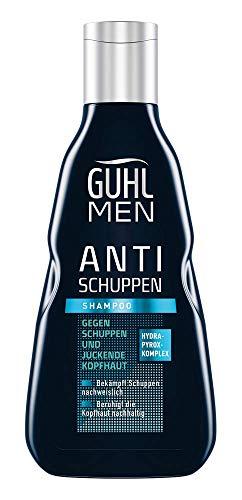 Guhl Men Anti Schuppen Shampoo - Beruhigt die Kopfhaut nachhaltig - Speziell für Männerhaar, 250 ml