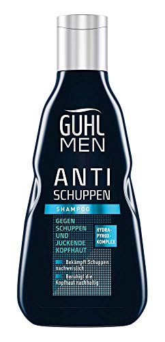 Guhl Men Anti shampoo de hoofdhuid -haar, 250 ml Anti-roos.