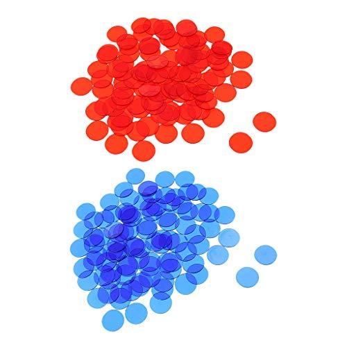 freneci 1000pc Translucent Bingo Chips 3/4 '' Für Bingo Poker Spielkartenzubehör