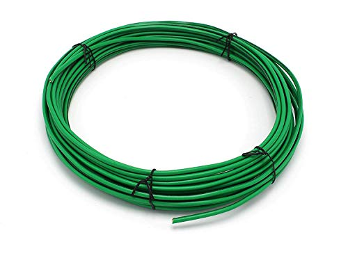 Green THHN Wire | 10 AWG - 50 Feet | Solid Copper Grounding Wire, Proudly Made in America | Ground Protection Satellite Dish Off-Air TV Signal - UV Jacketed Antenna Electrical Shock