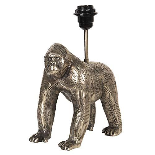 Clayre & Eef Tischlampe Schreibtischlampe Stehlampe Lampe Gorilla 20 * 14 * 31 cm gold Aluminium 6LMP655