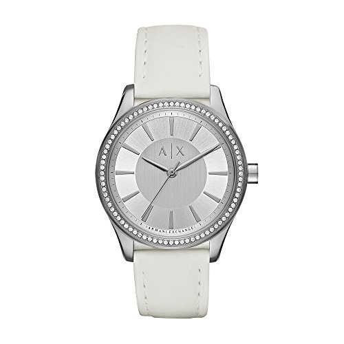 Armani Exchange Women's AX5445 White Silicone Watch