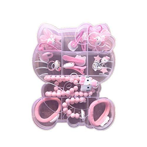 Set di gioielli per bambina Hello Kitty Minnie Mouse Clip per capelli collana rosa rosso, colore: Hk1.