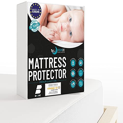 Dreamzie - Protège Matelas 60 x 120 cm Imperméable - Alèse Premium Oeko-TEX® Hypoallergénique, Anti-Acarien et Bactérien