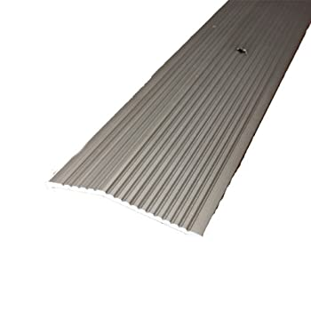 M-D Building Products 43858 M-D Extra Wide Fluted Carpet Trim 2 in W X 36 in L X 0.3 in H Pewter Pack of 1