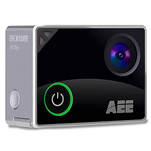 AEE Silver 4K WiFi Sports Action Camera, Ultra HD 133 Feet Waterproof DV Camcorder with Touch Screen, 16MP Image Resolution, 140 Degree Wide Angle Lens with 4X Digital Zoom