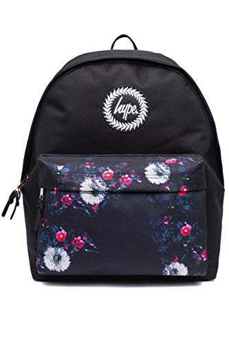 HYPE - Floral Placement Pocket, Mochilas Unisex adulto, Multicolor (Black/White), 30x41x15 cm (W x H L)