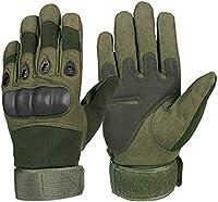 冬の暖かい手袋 モーターサイクルグローブライディンググローブスーパーファイバー強化レザーモトクロスバイクバイカーレーシングカーオートバイモトグローブ男性 (Color : Army Green, Size : L)