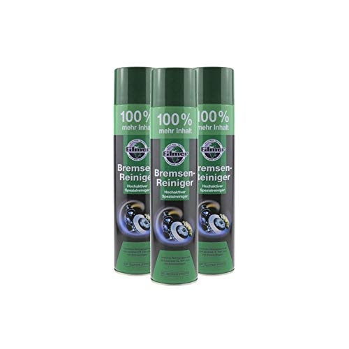 P4B | 3X Bremsenreiniger - 600 ml Spraydose | Hochaktiver Spezialreiniger | Materialschonender Reiniger | Ohne Rückstände