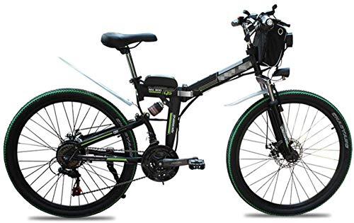 Bicicleta eléctrica 48V 500W  Montaña 26 Bicicleta eléctrica Bicicleta plegable pulgadas, plegable bicicletas altura ajustable portátil con luz LED frontal, 4,0 pulgadas de bicicletas Mujeres Fat Tir