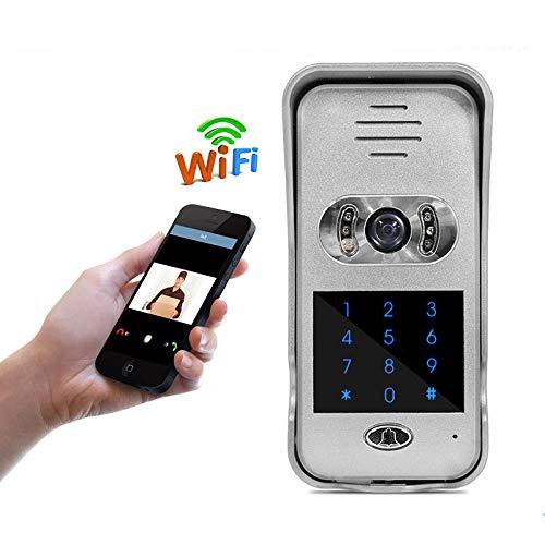 Deurspreekinstallatie WiFi/WLAN IP video HD – de deur-functie + draadloze deurkling + bewegingsmelder + bediening via smartphone/mobiele telefoon