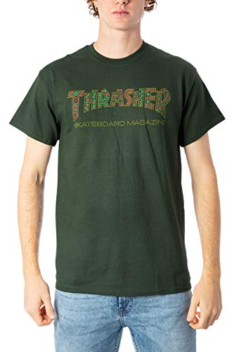 THRASHER T-Shirt Davis Forest Verde (L, Verde)