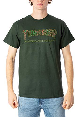 THRASHER Camiseta Davis Forest Verde (M, Verde)