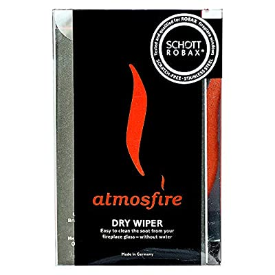 Atmosfire Dry Wiper Cleans Hot Glass to a Crystal Clear Finish Without Water, Chemicals or Mess by Schott Robax
