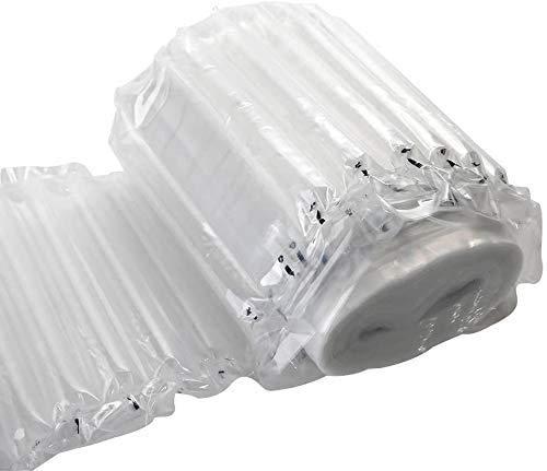 logei® Rollo de bolsas de embalaje de protección de la burbuja material de la columna de aire de plástico de burbujas película a prueba de golpes de envases de plástico de burbujas inflable,40cm x 20m