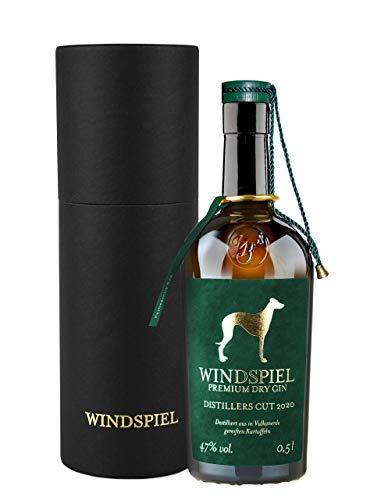 Windspiel Premium Dry Gin Distillers Cut 2020 47% vol. 0,5 Liter in edler Geschenkverpackung - Limitierte Gin-Sonderedition aus der prämierten Windspiel Manufaktur
