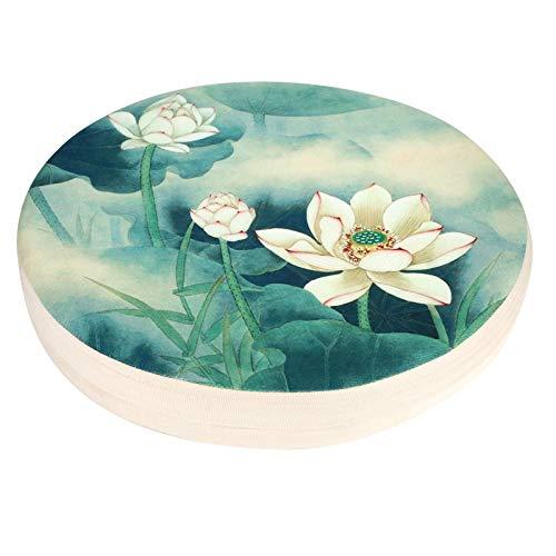 Almohada de Piso, cojín de algodón, cojín de Asiento, decoración del hogar, 40 x 40 x 6 cm, Almohada Redonda de meditación para Sala de Yoga