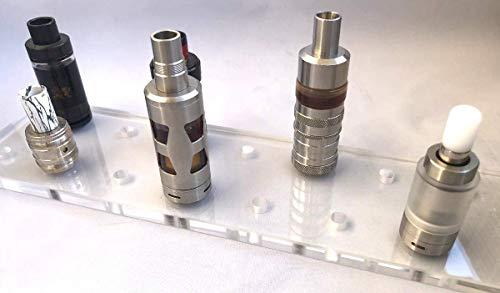 esmoking Shop Dampfständer E-Zigarette Halter für 15 Verdampfer - Acryl - Smok Asmodus OBS