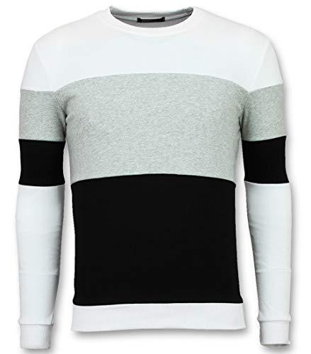 Striped Sweater Heren - Online Streep Truien Kopen - Grijs