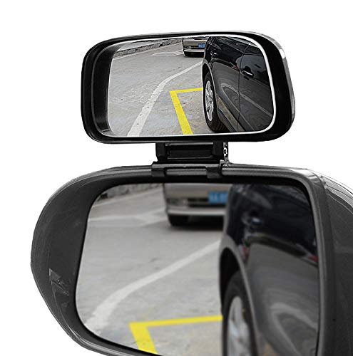Blind Spot Mirrors - Adjustable 360 Degree Rotation Car Auxiliary Convex Wide Angle Mirror Snap Way Clip On Side Rearview Mirror Universal for Cars Truck SUVs