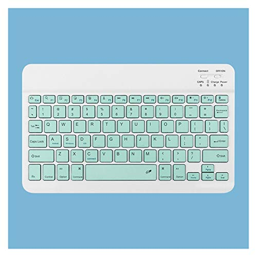 Teclados para iPad Bluetooth Keyboard TouchPad Pro 11 Wireless Mini Bluetooth Teclado y Mouse para Samsung Xiaomi Teclado iPad (Axis Body : Tea Shaft, Color : Lake Blue A)