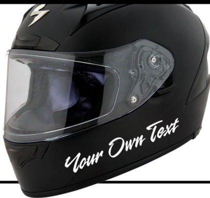 Wunschtext Helm Motorrad Motorradhelm Aufkleber Decal Sticker Scheibe Lack Tuning Autoaufkleber Hochleistungsfolie von myrockshirt ® estrellina Glücksstern
