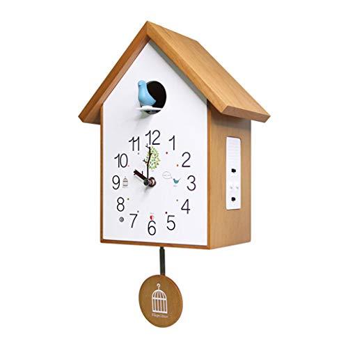 Reloj de Pared Reloj de Pared de péndulo de Madera Maciza El Reloj de Pared Inteligente por Hora, Las Campanas se apagan automáticamente [Cocina y Familia] Reloj de Pared para Sala de Estar